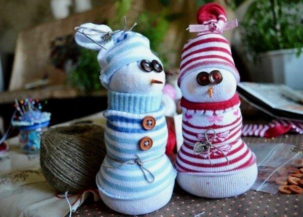 Новогодние подарки своими руками: делаем снеговика :: Под...