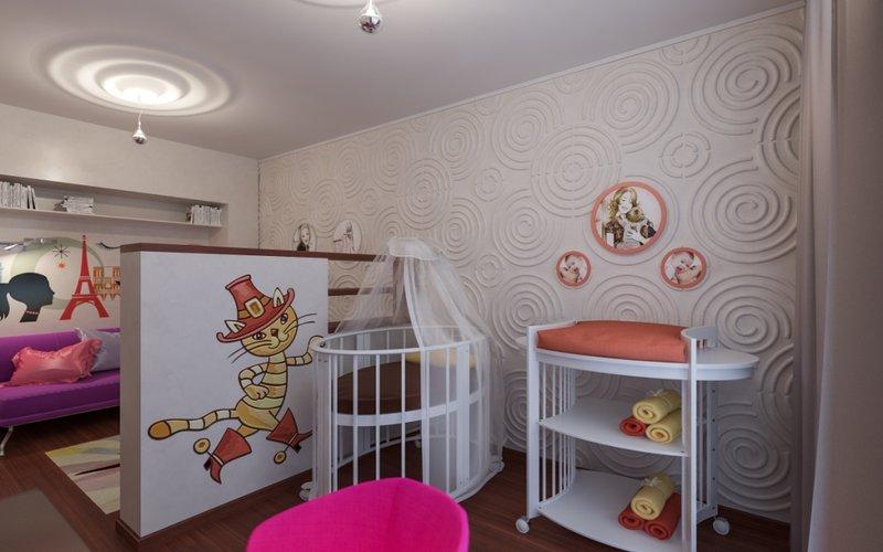 дизайн для однокомнатной квартиры фото для семьи с ребенком фото