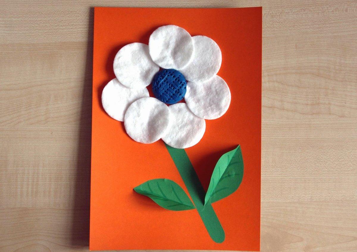 Для открыток, сделать открытку из цветной бумаги цветы