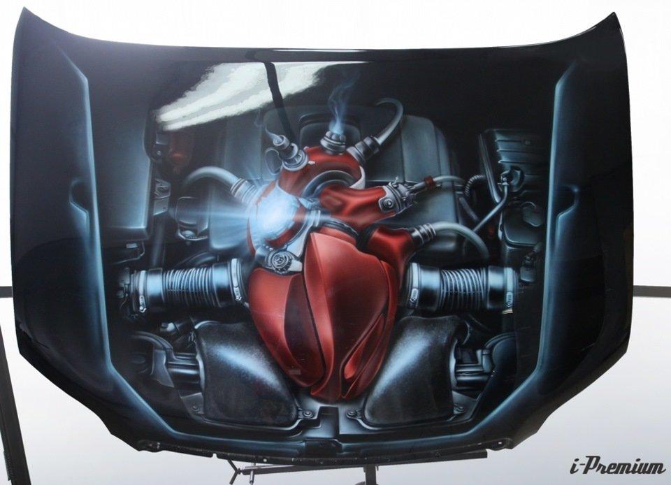 течением картинки в виде сердца-мотора очень