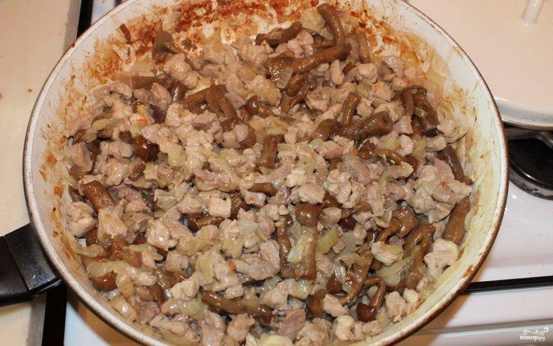 жареное мясо грибами рецепт фото