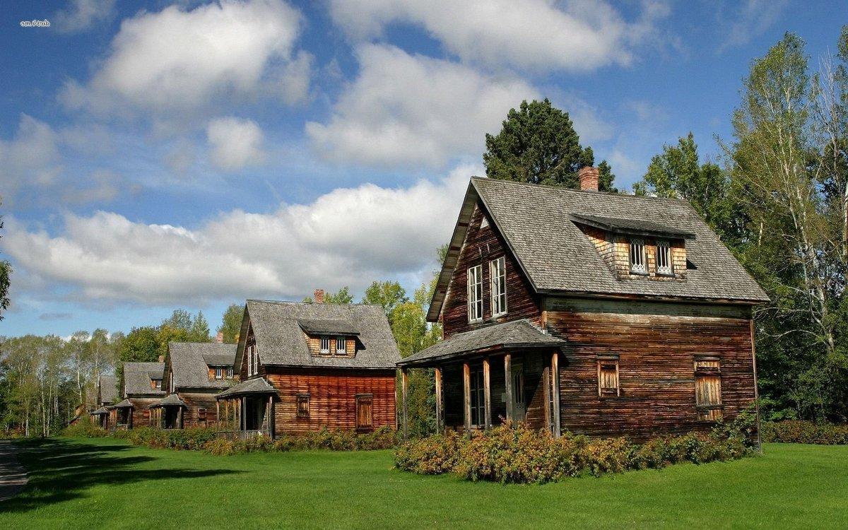 разговариваю картинки с деревянным домиком на обои свое