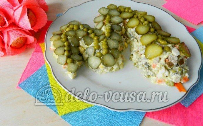 Оливье с мясом рецепт с фото