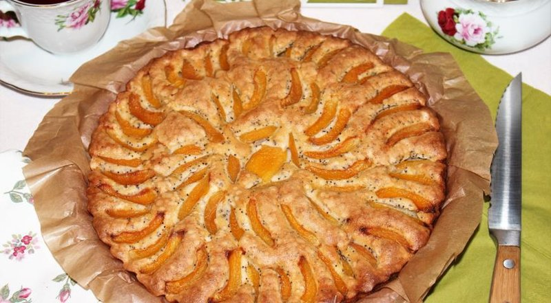 Шарлотка абрикосов рецепт фото