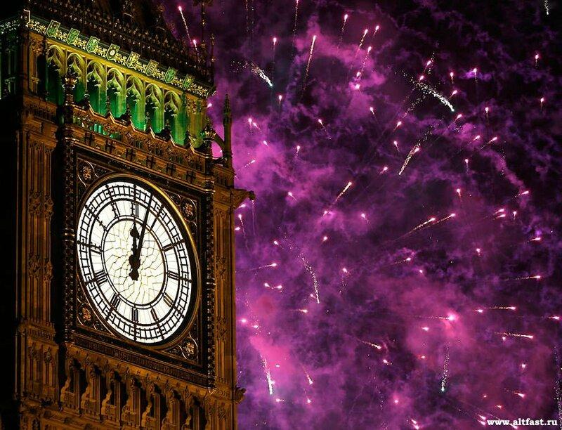 Новогодние фото лондона