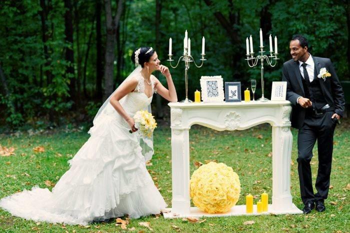 Свадебное фото и свечи