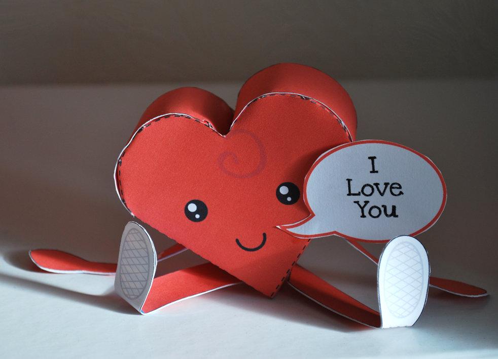 Открытки сердечки из бумаги своими руками, без ума