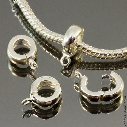 Купить или заказать Бейл для браслета Пандора Серебро в интернет-магазине  на Ярмарке Мастеров. 9abbc9a91c7
