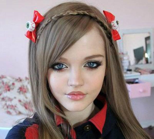 Красивый макияж как у куклы