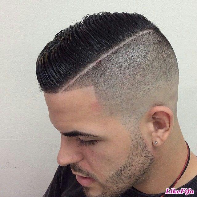 Мужские причёски с выбритым виском