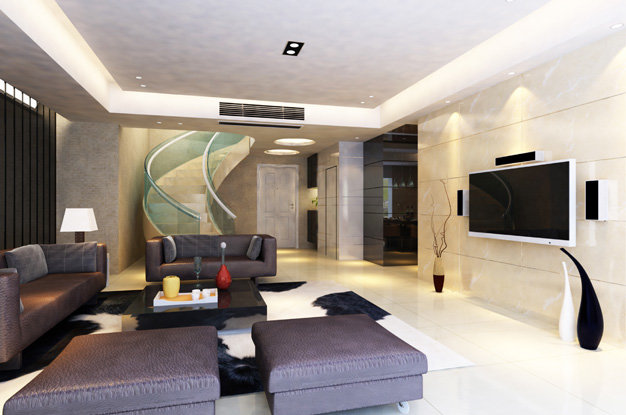 Современный интерьер гостинной