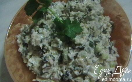 Курица с грибами салат с фото