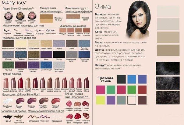 макияж по цветотипу мэри кей - 1