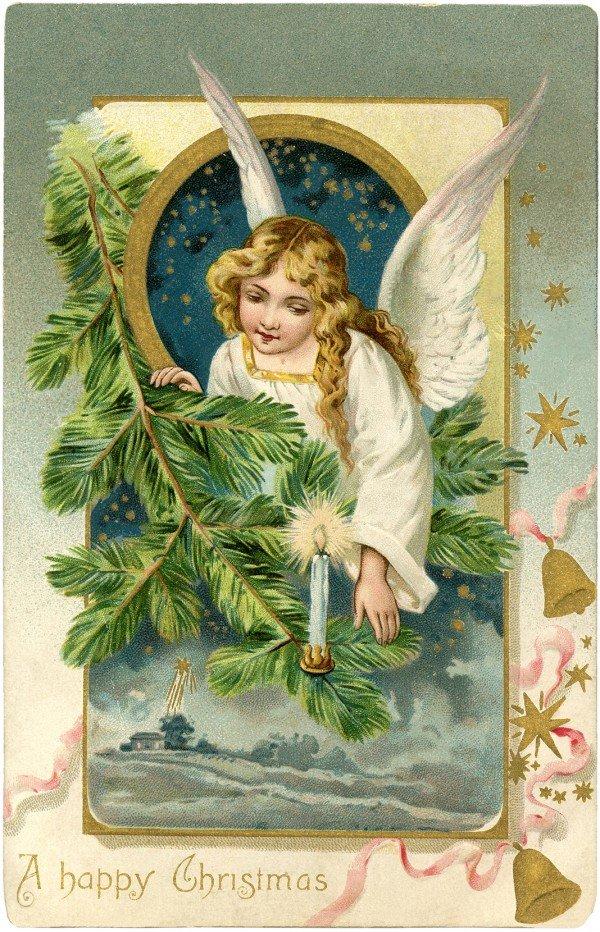 Открытки 20 века ангелы