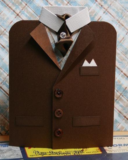 Как сделать открытку в форме пиджака