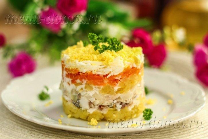 Рецепты современных салатов с фото
