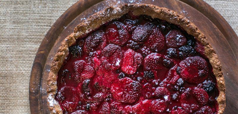 Галета с ягодами ржаная