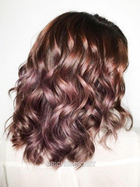 Волос шоколадно фиолетовый цвет