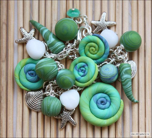 Морские украшения из глины