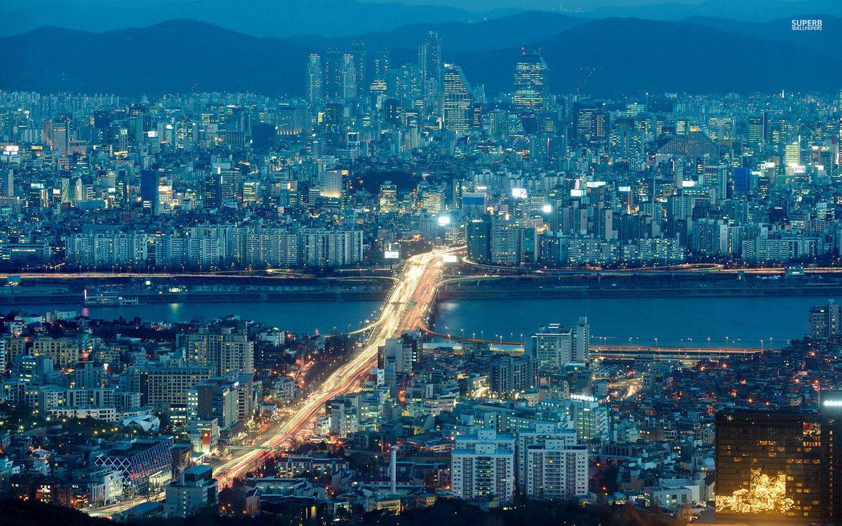 Южная корея картинки красивые, днем