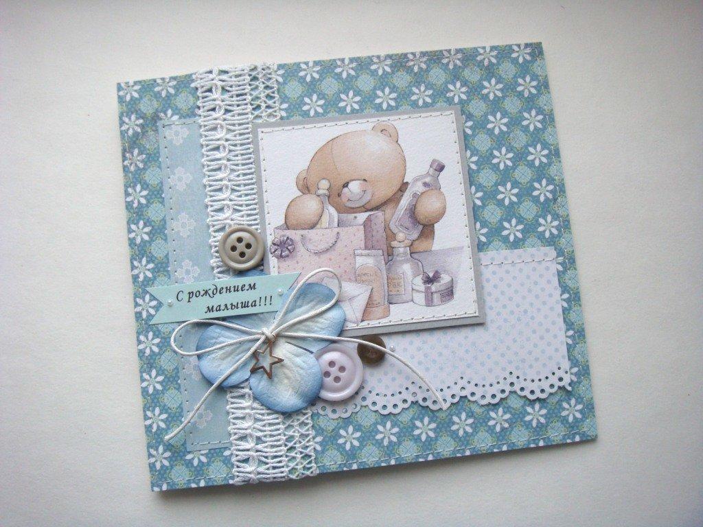 Скрапбукинг открытки новорожденной