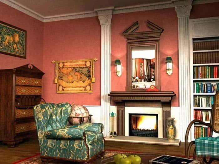 Английский стиль в интерьере -  Гостиная в английском стиле - фото