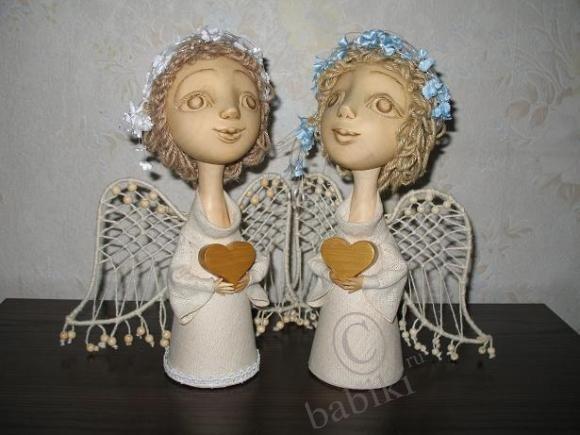 Рождественские куклы-ангелы