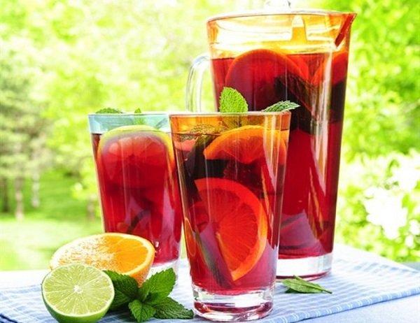 Ванильный чай из фруктов