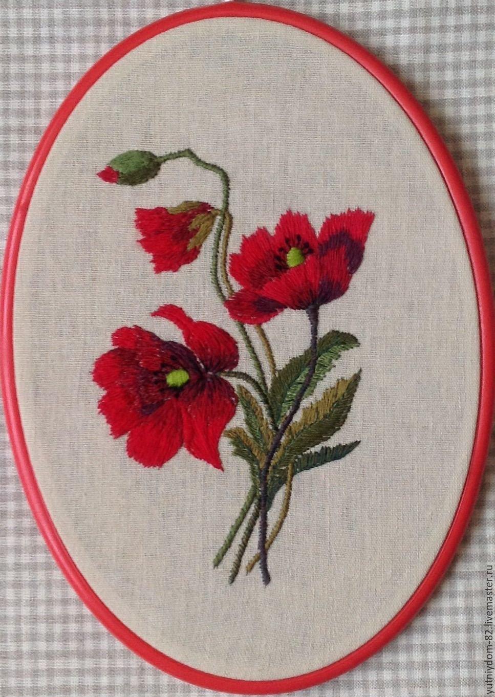 Новым, картинки вышитые гладью цветы