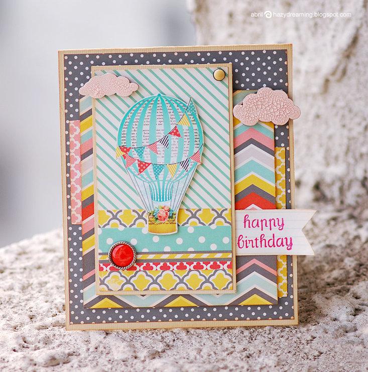 Как сделать воздушный шар на открытке
