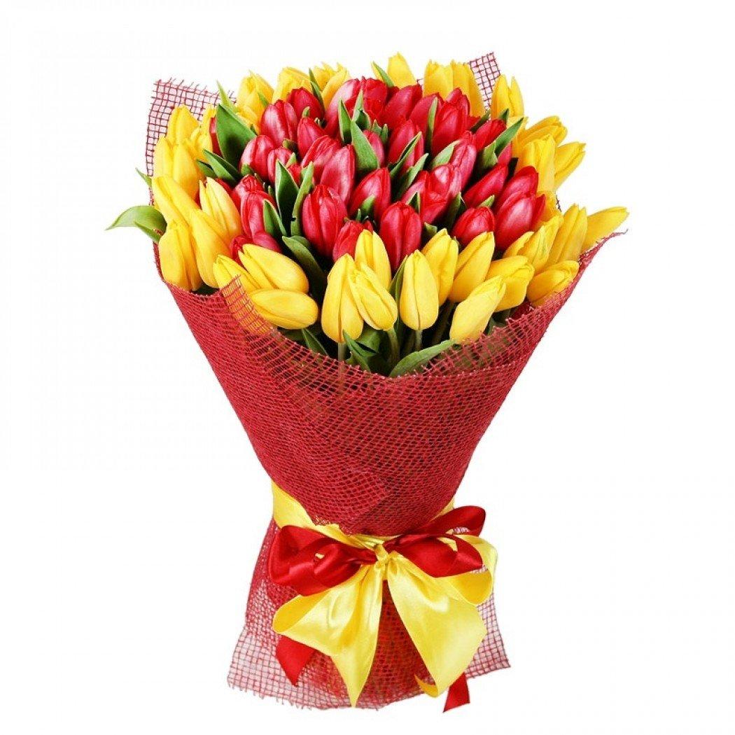Красивые букеты из тюльпанов на 8 марта фото, свадебный