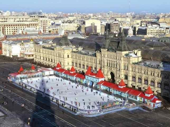 Катки Москвы: каток на Красной площади