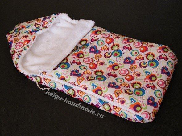 Конверт для новорожденного с капюшоном своими руками мастер класс