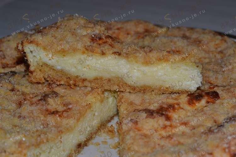 Пирог с творожной массой рецепт с фото