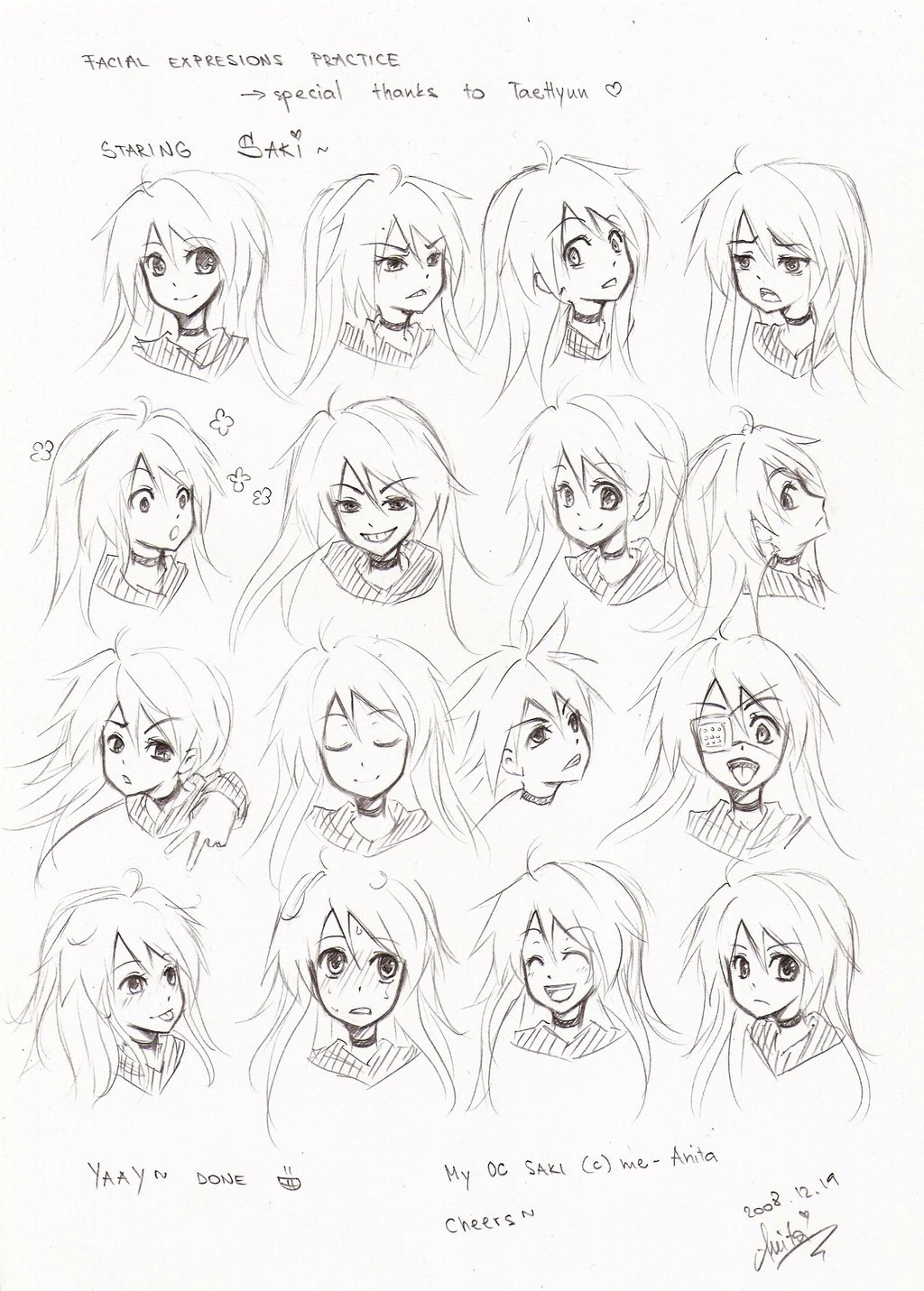 facial expression Anime