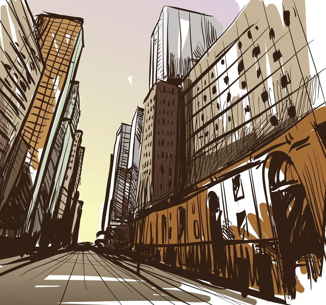 получается мегаполис картинки рисунки стен