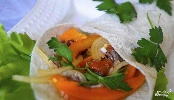 Фахитос с говядиной рецепт с фото