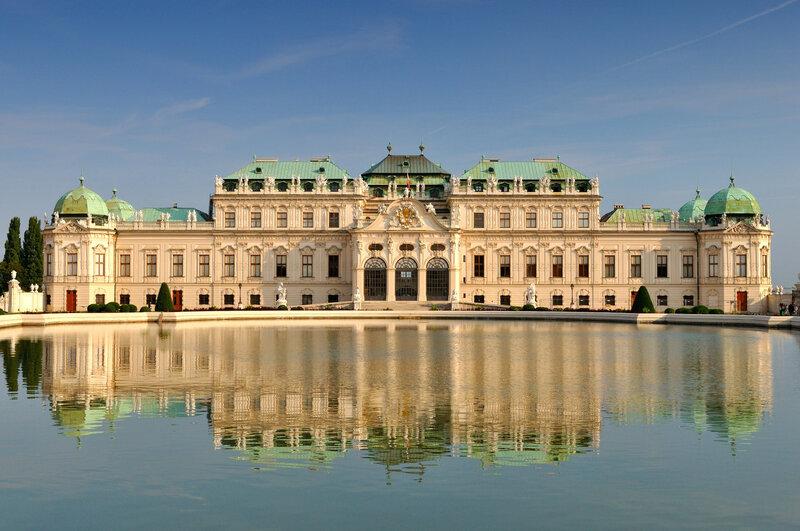 Дворцовый комплекс Бельведер в Вене (Австрия)