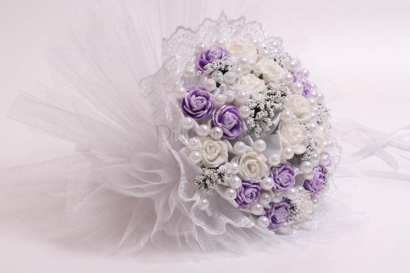 Свадебные букеты искусственные цветы 53