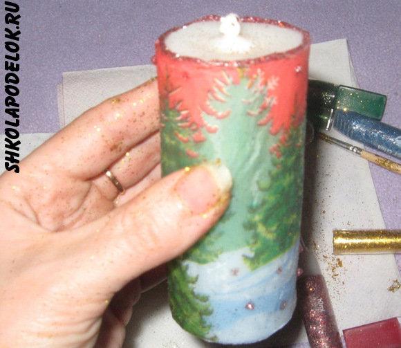 Мастер-класс по изготовлению и декорированию новогодних свечей. Новогодние свечи, сделанные своими руками - незабываемый подарок к празднику