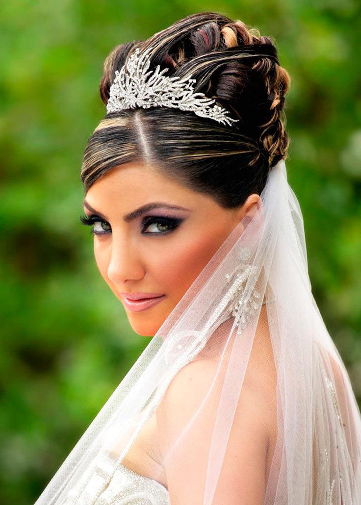 свадебные прически c фатой журнал