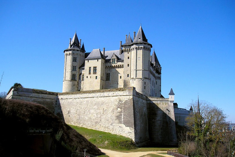 Вид на юго-восточную сторону замка Сомюр