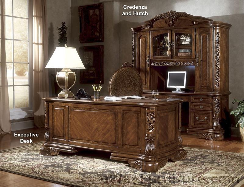 Мебель из дерева для кабинета в стиле ампир