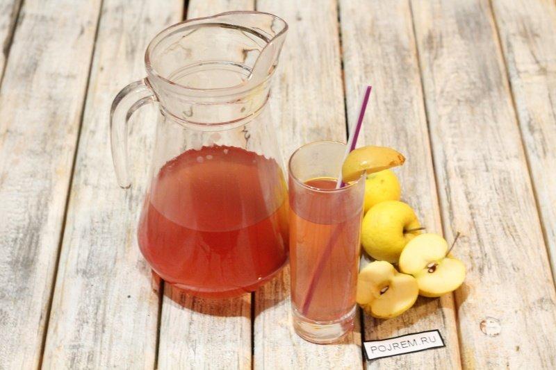 как приготовить компот из яблок в мультиварке