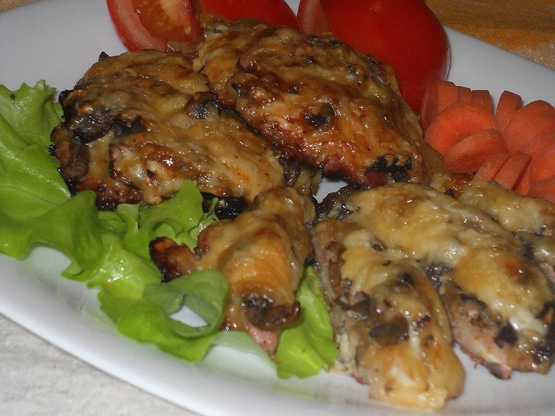 Отбивные свинины грибами фото рецепт