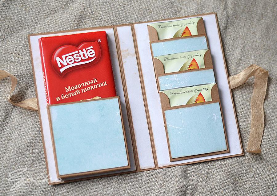 Открытка, как сделать открытку с шоколадкой внутри своими руками