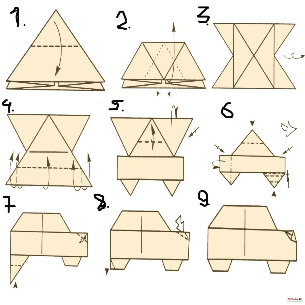модули оригами схема машины