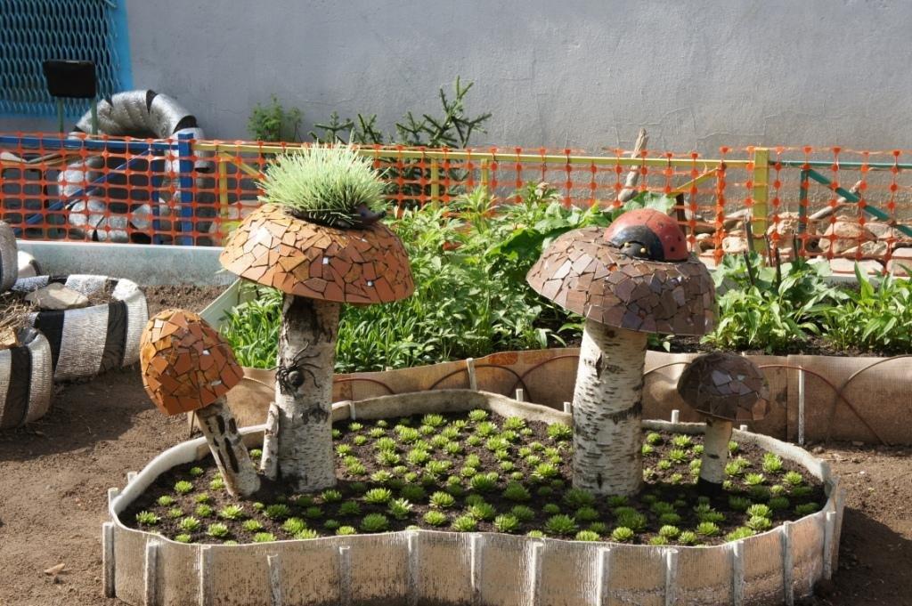 Новые поделки для сада своими руками фото