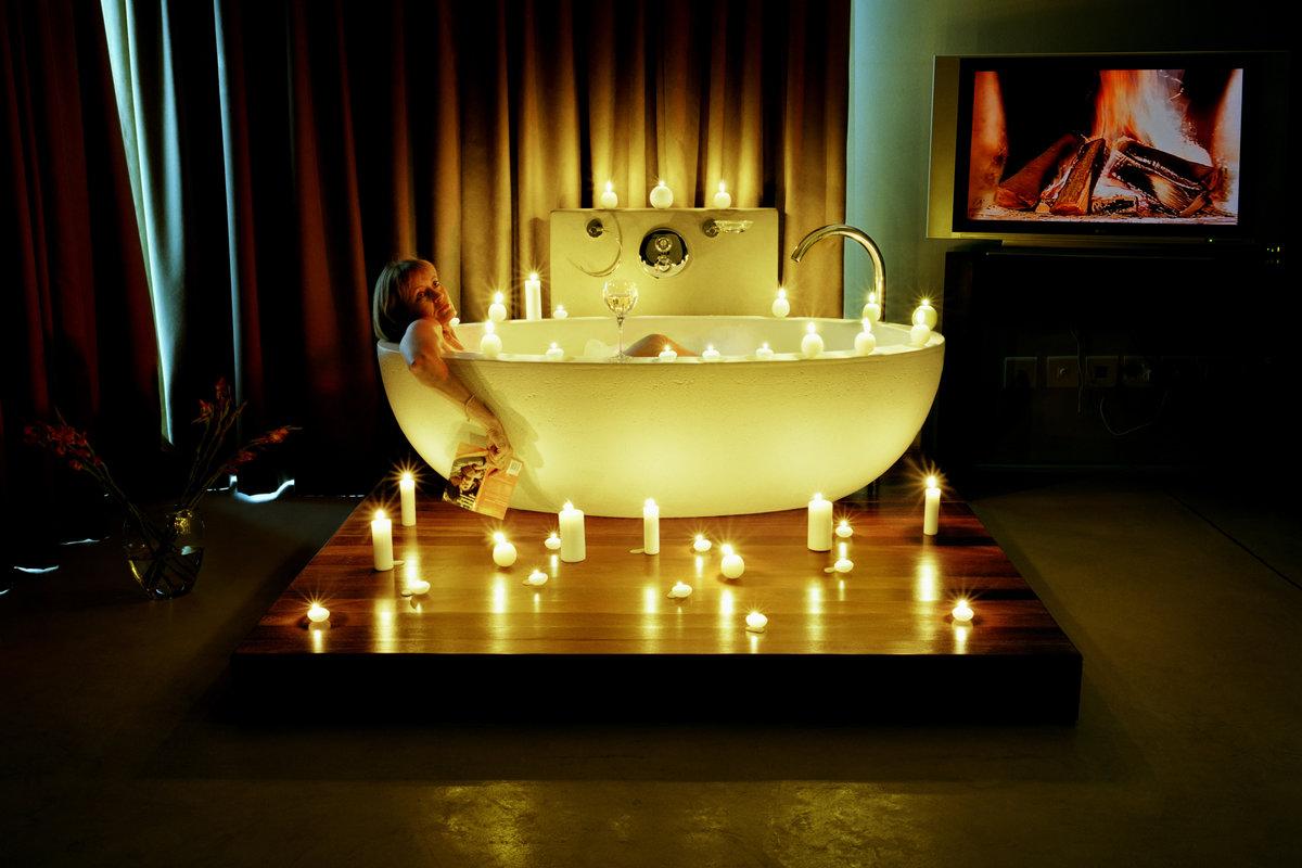 фото спальни при свечах крайней мере, счастливый