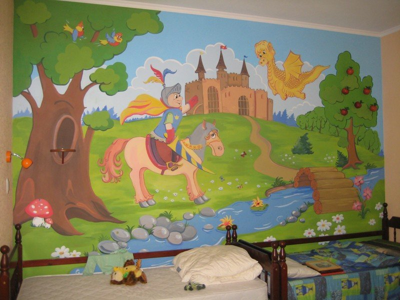 Картинки из сказок для оформления стен